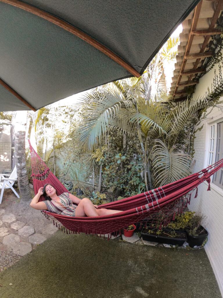 onde ficar em Arraial com muitas muitas redes para descanso